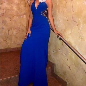 Royal blue dress/gown size 2